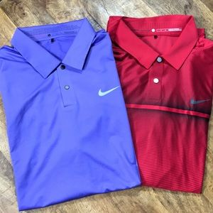 NIKE Dry Fit Tiger Woods Collection Polos L